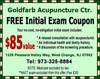 West Orange Acupuncture FREE Initial Exam Coupon
